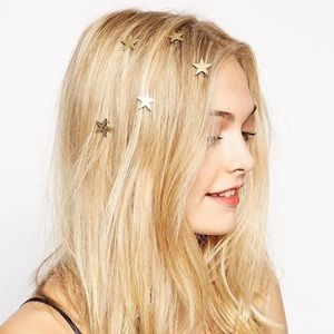 🎉 New Gold Star Hair Clip Accessory Set of 5